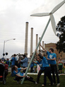 Hazelwood and raising a wind turbine web