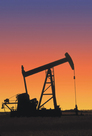 oil well sunset